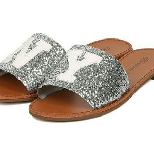 Breckelle's silver sparkle sandles NY and NWT